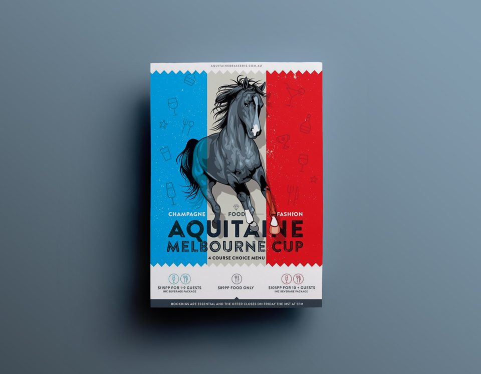 Melbourne Cup Poster - Aquitaine
