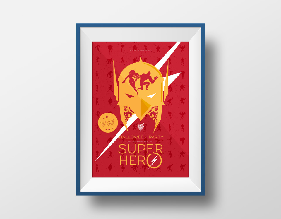 SuperHero Party Poster
